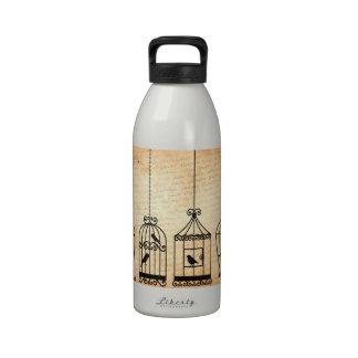Siluetas del Birdcage Botella De Agua