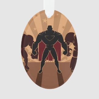 Siluetas del equipo del super héroe