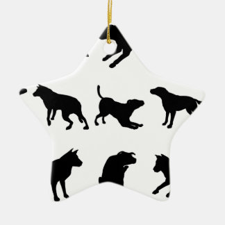 Siluetas del perro ornamento para arbol de navidad