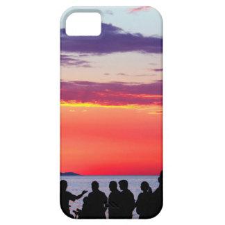 Siluetas en la puesta del sol funda para iPhone SE/5/5s
