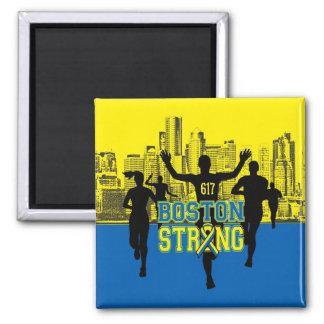 Siluetas fuertes del alcohol de Boston Imán Cuadrado