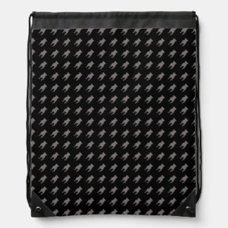 Siluetas grises del barro amasado en fondo negro mochila