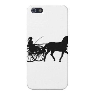 Siluetas - Teamsters - caballos - cochecillo del c iPhone 5 Carcasa