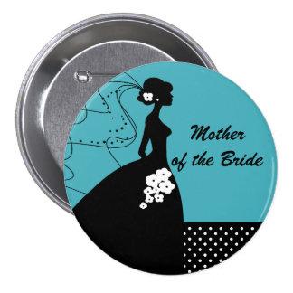 Siluetee a la madre de la novia del botón/Pin de l