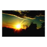 siluetee una imagen de una puesta del sol fotografías