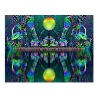 Silurian Globe Fantasy Art Post Card