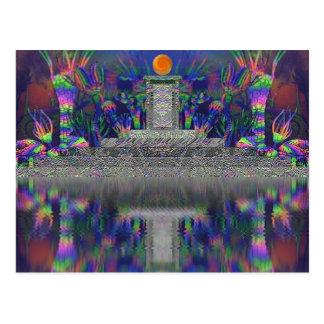 """Silurian Shrine"" Original Art Postcard"