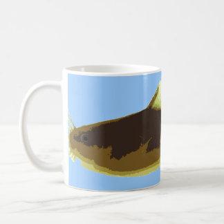 Siluro de Madtom en azul Taza De Café