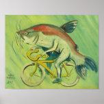Siluro en una bicicleta posters