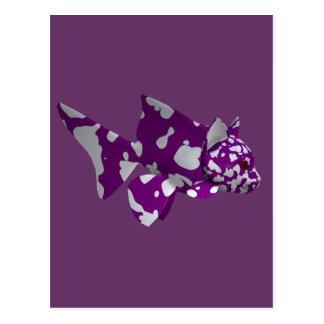 Siluro púrpura tarjeta postal