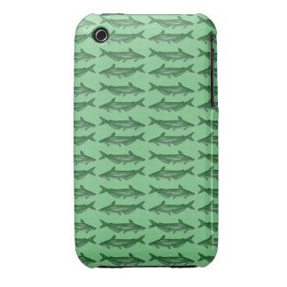 Siluro verde del siluro Case-Mate iPhone 3 protector