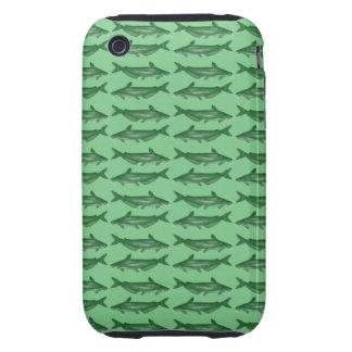 Siluro verde del siluro tough iPhone 3 carcasas