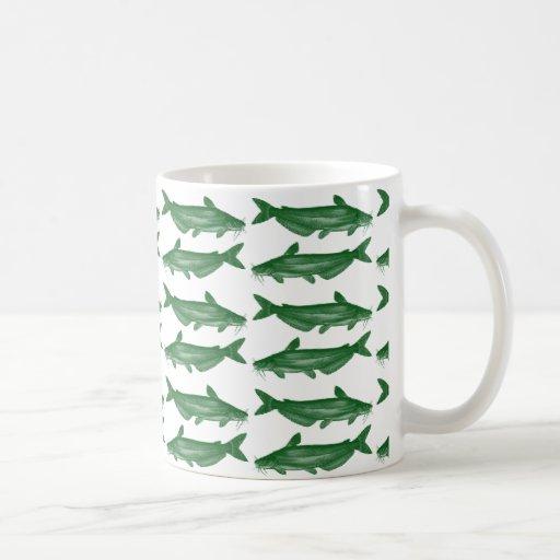 Siluro verde taza básica blanca