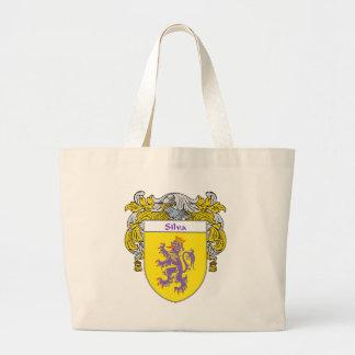 Silva Coat of Arms (Mantled) Large Tote Bag