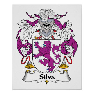 Silva Family Crest Poster