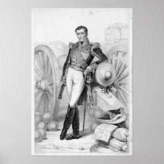 Silvano Charles Valee, cuenta y mariscal Póster