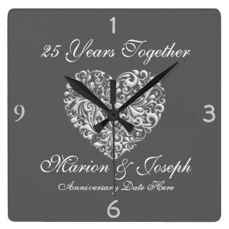 SILVE 25th Anniversary GIFT Wall Clock