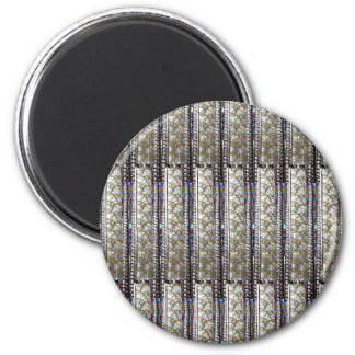 Silve Stripes Template + TEXT QUOTE Image PHOTO 2 Inch Round Magnet