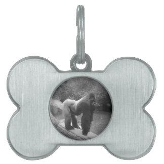 Silveback Gorilla Pet ID Tag