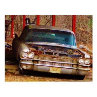Silver 1963 Sadan Deville Postcard