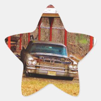 Silver 1963 Sadan Deville Star Sticker