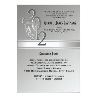 Silver 2012 Varsity Graduation Invitation