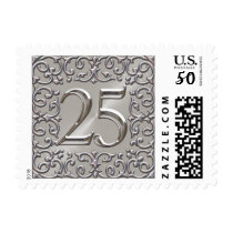 Silver 25th Anniversary Postage Stamp