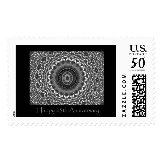 Silver 25th Anniversary Stamp
