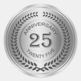 Silver 25th Anniversary with laurel wreath Sticker