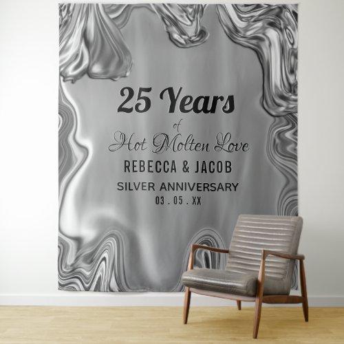 Silver 25th Wedding Anniversary Backdrop