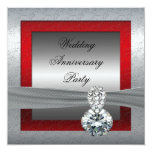 Silver 25th Wedding Anniversary Party Invitation