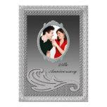 Silver 25th Wedding Anniversary Party Invitation