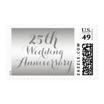 Silver 25th Wedding Anniversary Postage Stamp