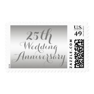 Silver 25th Wedding Anniversary Postage Stamp