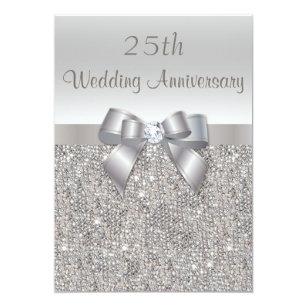 25th Anniversary Wedding Invitations Zazzle