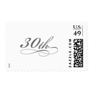 Silver 30th Birthday or Anniversary Stamp