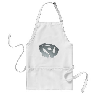 Silver 3D 45 RPM Adapter Adult Apron