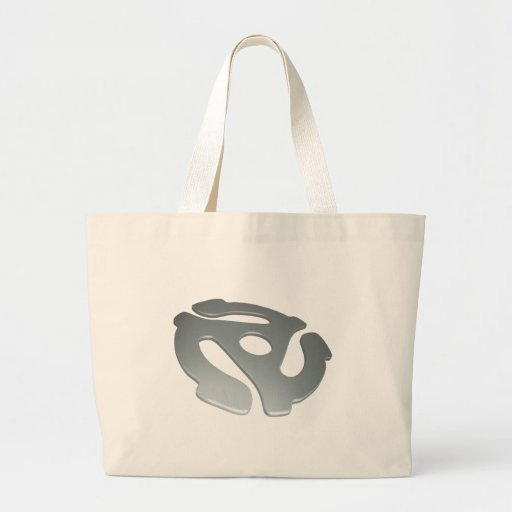 Silver 3D 45 RPM Adapter Canvas Bags