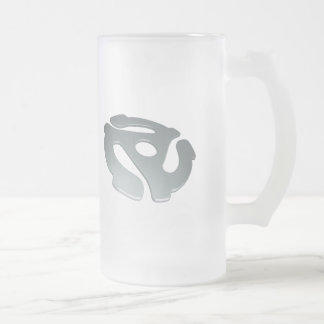 Silver 3D 45 RPM Adapter Coffee Mug