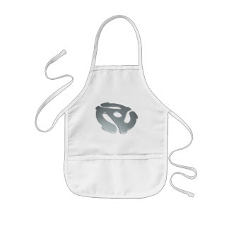 Silver 3D 45 RPM Adapter Kids' Apron