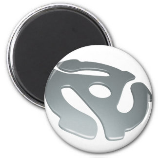 Silver 3D 45 RPM Adapter Refrigerator Magnets