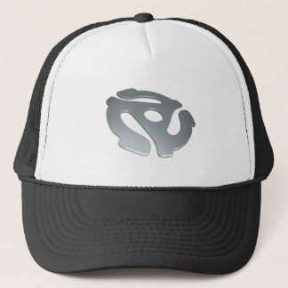 Silver 3D 45 RPM Adapter Trucker Hat
