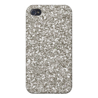 Silver 4 Glitter Hanukkah  Cover For iPhone 4