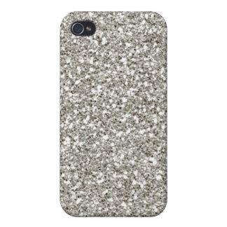 Silver 4 Glitter Hanukkah  iPhone 4 Case