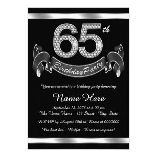65th birthday invitations zazzle