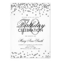Silver 70th Birthday Party Glitter Confetti Card