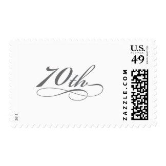 Silver 70th Birthday Stamp