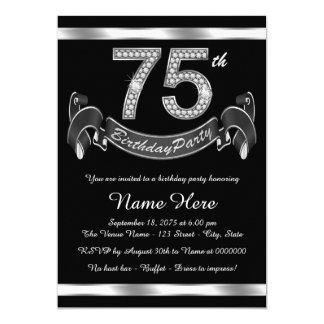 75th Birthday Invitations & Announcements | Zazzle