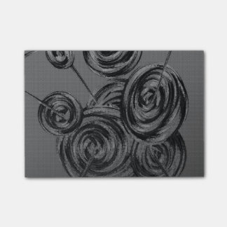 Silver Abstract Balls Post-it® Notes