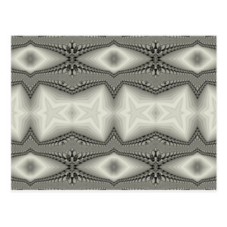Silver Abstract Postcard